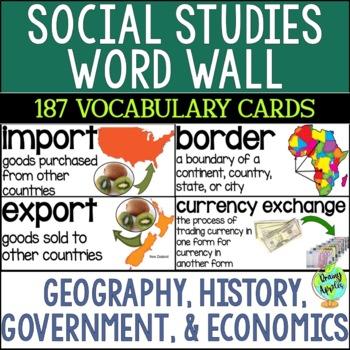 Social Studies Word Wall
