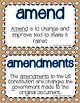 Social Studies Word Wall Words (& Definitions) - Civics, Rules, & Laws