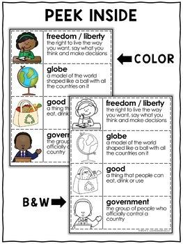 Social Studies Word Wall Vocabulary