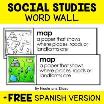 Social Studies Word Wall Bundle