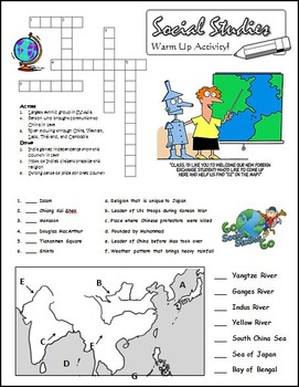 Social Studies Worksheet 7th Grade Georgia GPS