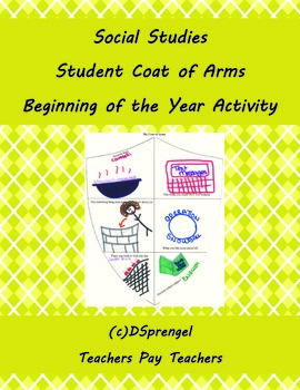 Social Studies World History Student Coat of Arms New Year Activity