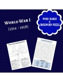 Social Studies: World War I Crossword Puzzle and Word Search