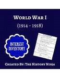 Social Studies: World War I Interest Inventory