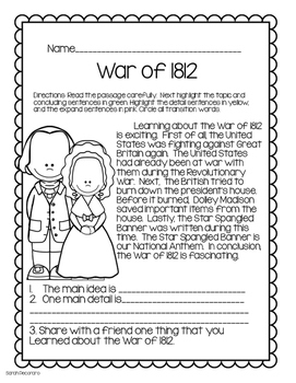 Social Studies-Writing Connection Early American History