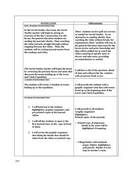 Differentiated Social Studies Writing Lesson Plan with Graphic Organizers
