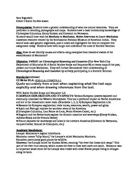 Social Studies and Art grade 5 Lenape Native Americans NYC maps