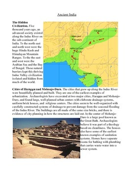 Social Studies and Common Core Ancient Civilizations: Mesopotamia, India, Rome