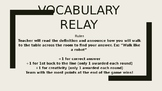 Social Studies and Geography Review Vocabulary Relay Game- NO PREP