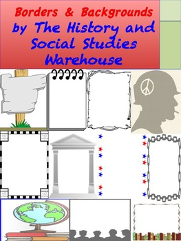 Social Studies and History Borders and Backgrounds