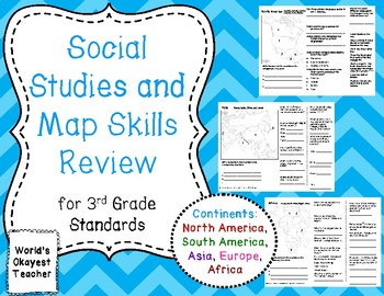 Social Studies and Map Skills Review: Continents
