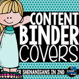 Content binder covers