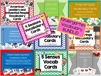 Mrs. Clarkson's-Vocabulary Cards {mini BUNDLE}