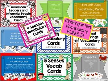 Social Studies and Science-Kindergarten Vocabulary Cards {BUNDLE}