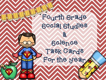 Social Studies and Science Task Cards for the Year! (Fourth Grade)