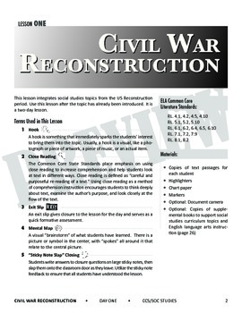 Social Studies and the Common Core: Lessons 1-5