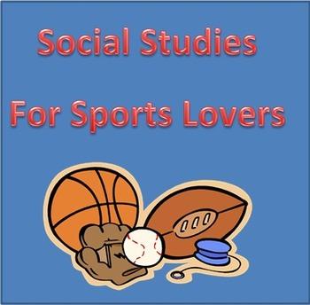 Social Studies Activites for Sports Lovers