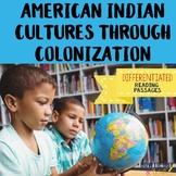 Social Studies Passages & Questions (Native American Indians to Colonies) bundle