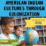 Social Studies Passages Native Americans to Colonization Leveled Texts 4 Levels