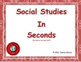 Social Studies in Seconds (Paul Revere and Map Skills Edition)