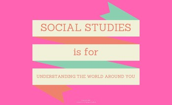 Social Studies is for Understanding the World Around You- Poster