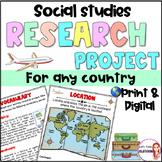 Culture-Social Studies research project