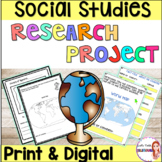 Culture-Social Studies research project