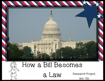 Social Studies research projects - activities about the US Flags & Bill to Law