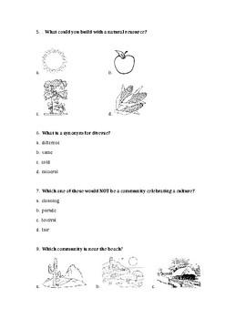 Social Studies test for Pearson Chapter 1