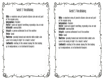 Social Studies weekly week 5 vocabulary