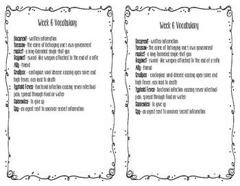 Social Studies weekly week 6 vocabulary