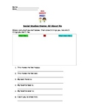 Social Studies worksheets: family, rules, recycle, vote, m