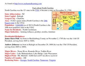 Social Studies:Regions of  North Carolina