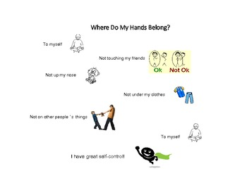 Social Tale - Where Do My Hands Belong? - Elementary - Autism - Special Ed