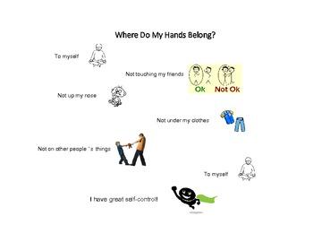 Social Tale - Where Do My Hands Belong? - Elementary - Aut