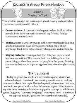 Social Talk, Unit 8: Staying On Topic