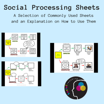 Social Skills: Social processing sheet; A selection of examples and How to use