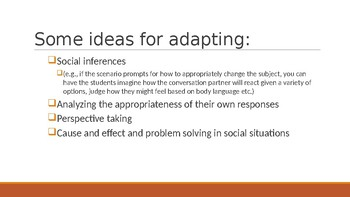 Social Transitions Practice