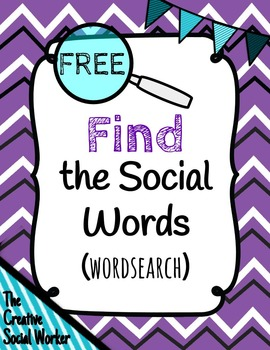 Find the Social Words: Free Social Skills Wordsearch
