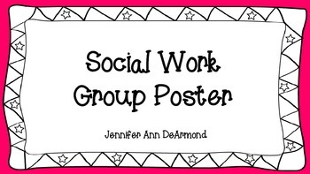 Social Work Group Poster
