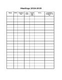 Social Work Meetings Organizer (Editable)