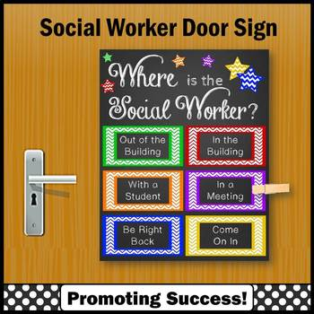Where is the Social Worker Door Sign End of the Year Gifts