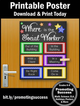 Where is the Social Worker Door Sign 8x10 or 16x20