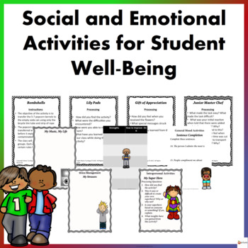 Social and Emotional Activities for Student Well-Being Bundle