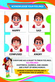 Social and Emotional Development Poster - Acknowledge Your Feelings