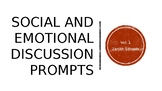 Social and Emotional Discussion Prompts: Sample