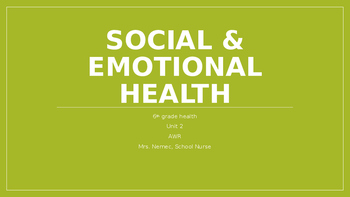 Social and Emotional Health