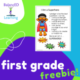 Social and Emotional Learning Activity - First Grade: Superhero Pledge
