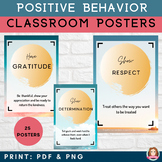 Positive Behavior Traits | 25 Classroom Posters | Social E
