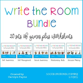 Social and Emotional Learning Series Bundle:  Write the Room Plus Worksheets